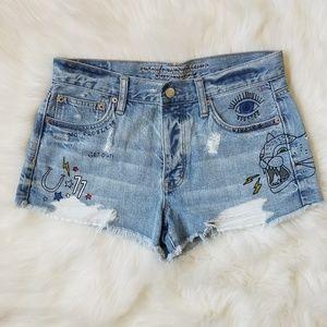 🖤SALE: price drop🖤AE Vintage Edition jean shorts